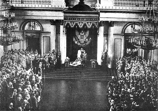 Выступление Николая II перед депутатами Государственной Думы и  членами Государственного Совета. 27 апреля 1906 г.