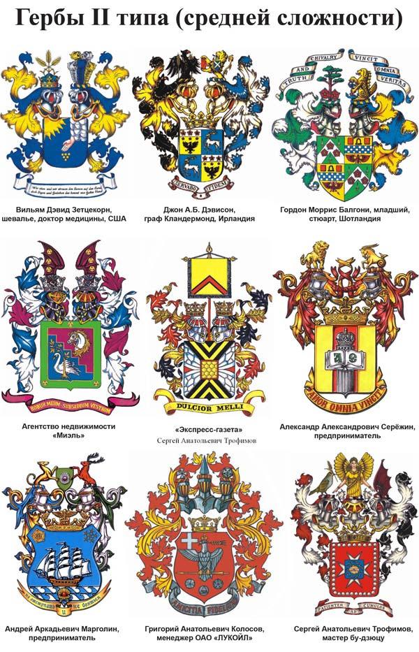 Гербы II типа (средней сложности) Cправочные материалы